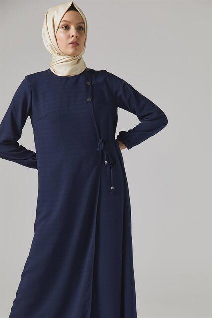 Vivezza Bağlamalı Ferace Pantolon Takım 6857-02 LACİVERT