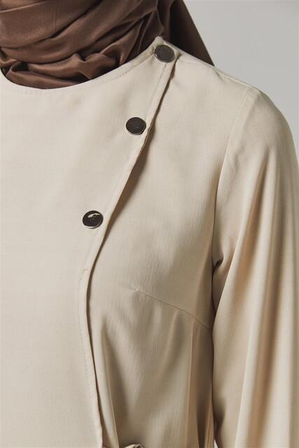 Vivezza Bağlamalı Ferace Pantolon Takım 6857-04 BEJ - Thumbnail